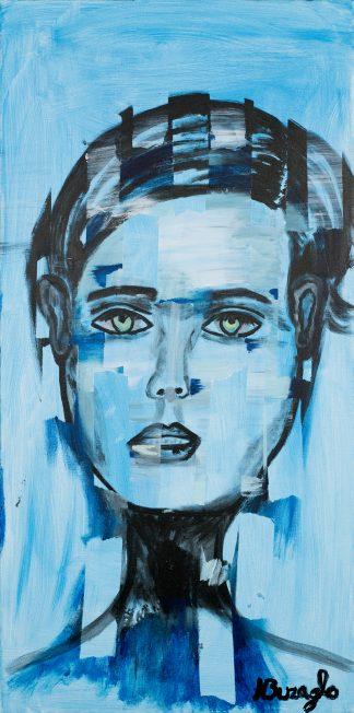 3198 אשה בכחול