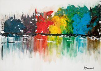 השתקפות עצים צבעוניים 3208