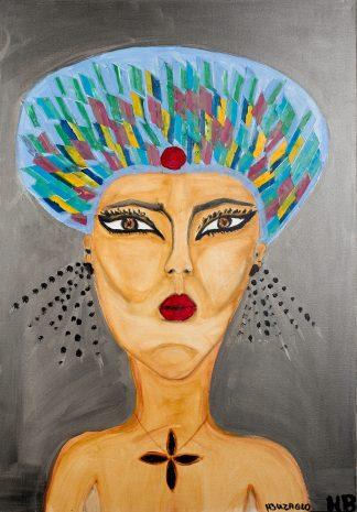 3048 אשה עם כובע