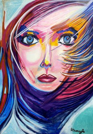 3372 אשה יפה צבעונית