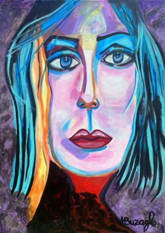 3375 דמות אשה שער כחול