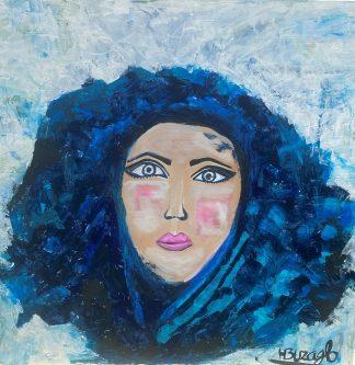 3379 דמות אשה כחול