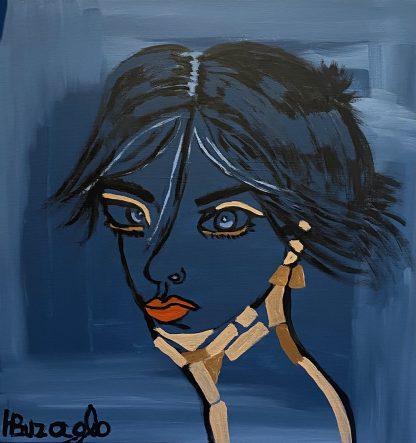 3396 דמות אשה שפתיים כתומות